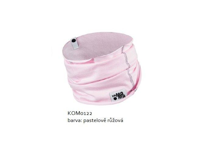 Komínkový šál - pastelově růžový