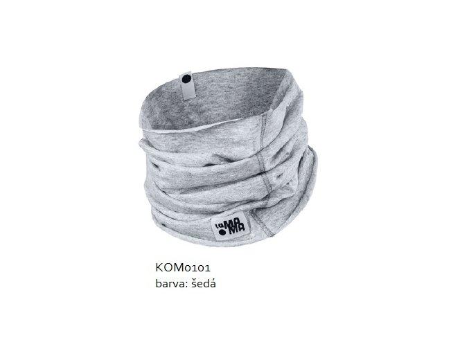 Komínkový šál - světle šedý melírovaný