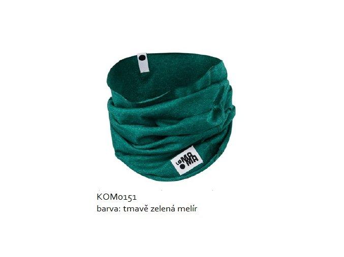 Komínkový šál - zelený melírovaný