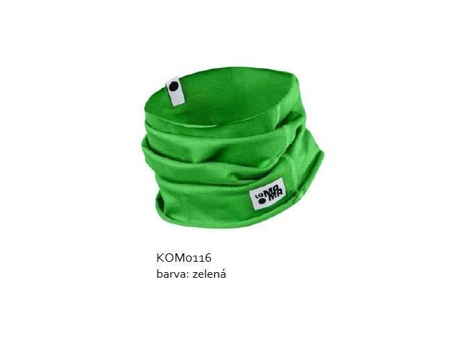 Komínkový šál - zelený
