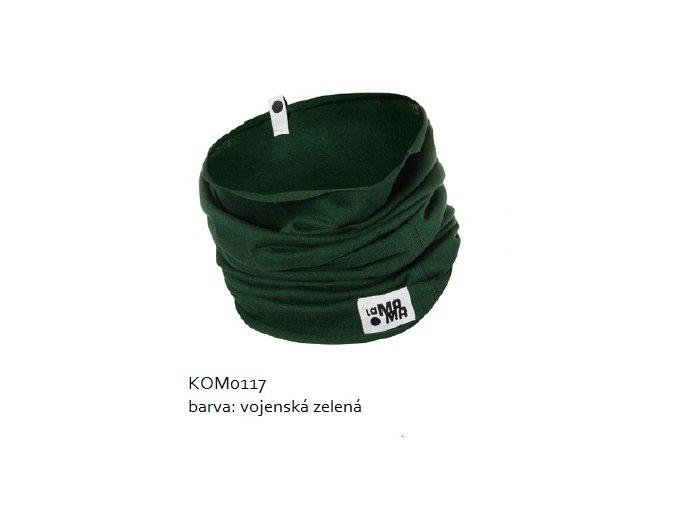 Komínkový šál - vojenský zelený