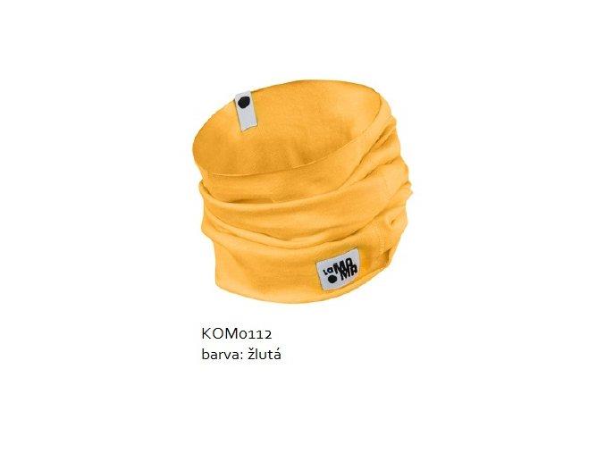 Komínkový šál - žlutý