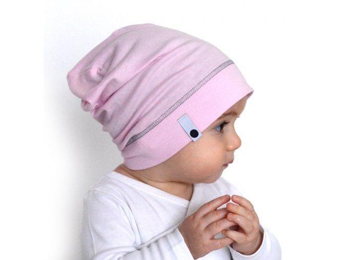 Letní čepice - pastelově růžová