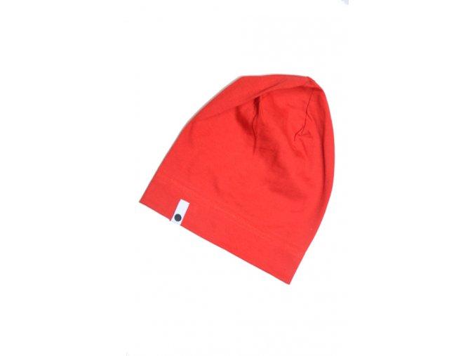 Letní čepice - červená