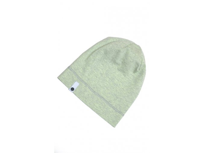Letní čepice - zelenošedá melírovaná