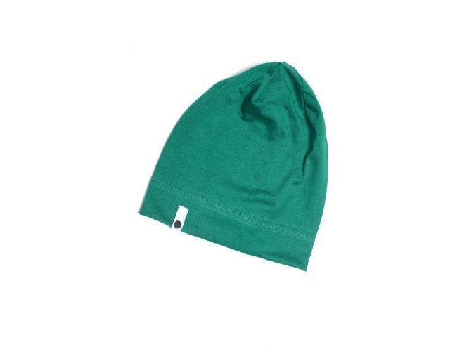 Letní čepice - tmavě zelená