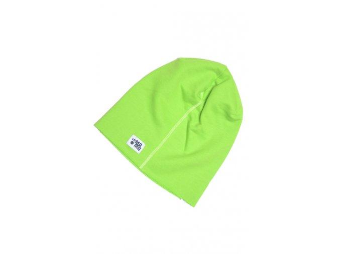 Letní čepice - světle zelená/limetková