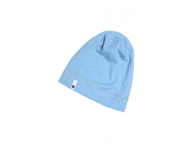 Letní čepice - světle modrá melírovaná