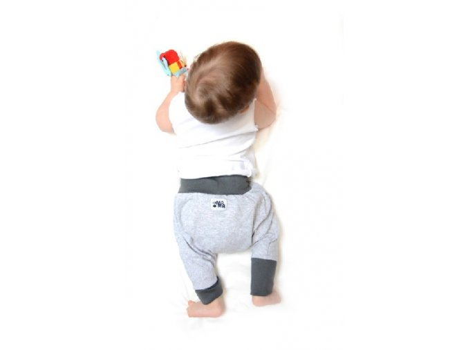 Kalhoty mini mini (jaro/léto) - šedé melírované