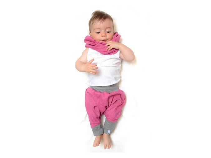 Kalhoty mini mini (jaro/léto) - růžové melírované