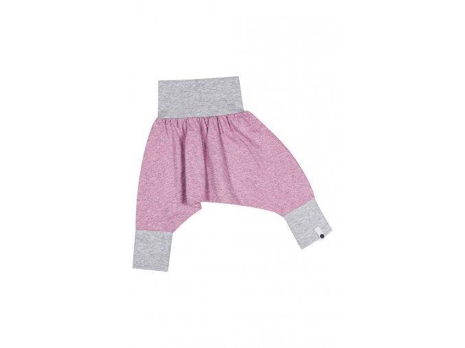 Kalhoty mini mini (jaro/léto) - pastelově růžové melírované