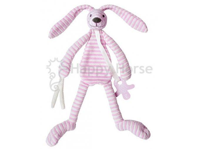 Růžový pruhovaný králíček Reece - přítulka