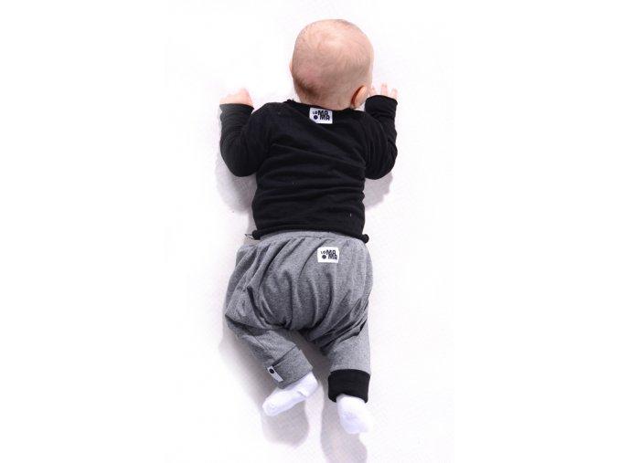 Kalhoty mini mini (jaro/léto) - tmavě šedé melírované