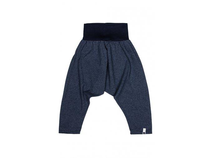Kalhoty bavlněné (jaro/léto) - granátové melírované