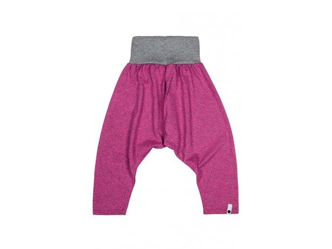 Kalhoty bavlněné (jaro/léto) - růžové melírované