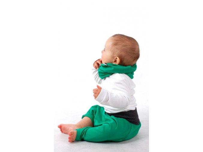 Kalhoty bavlněné (jaro/léto) - zelené
