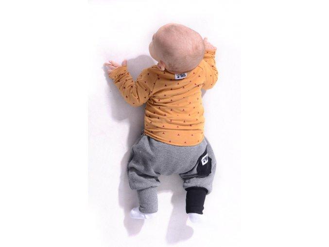 Kalhoty bavlněné (podzim/zima) - tmavě šedé