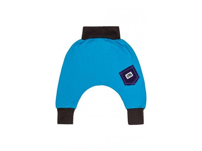 Kalhoty bavlněné (podzim/zima) - tyrkysové