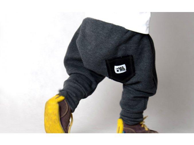 Kalhoty bavlněné (podzim/zima) - grafitové