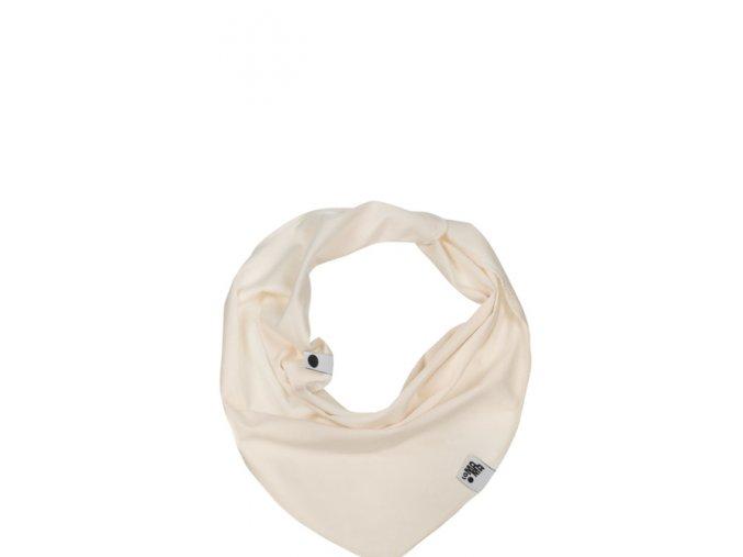 Bavlněný šátek - krémový