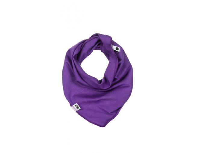 Bavlněný šátek - fialový