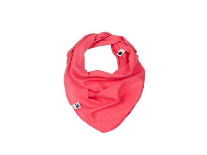 Bavlněný šátek - korálový