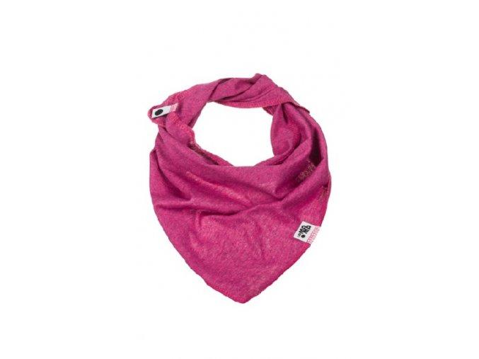 Bavlněný šátek - růžový melírovaný