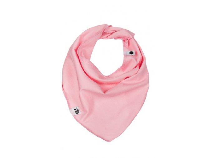 Bavlněný šátek - světle růžový