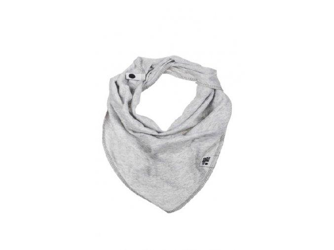Bavlněný šátek - světle šedý melírovaný