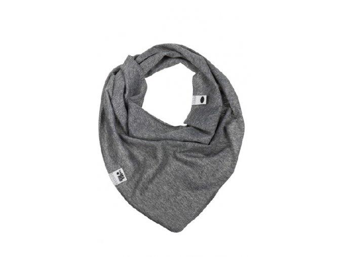 Bavlněný šátek - tmavě šedý