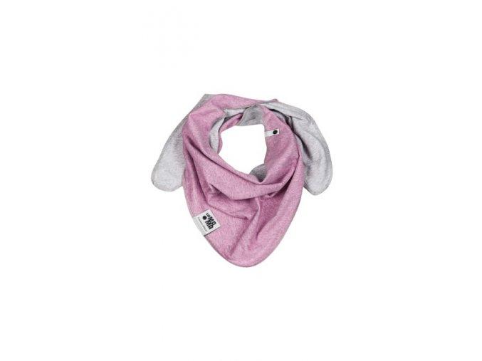 Oboustranný bavlněný šátek - pastelový melírovaný