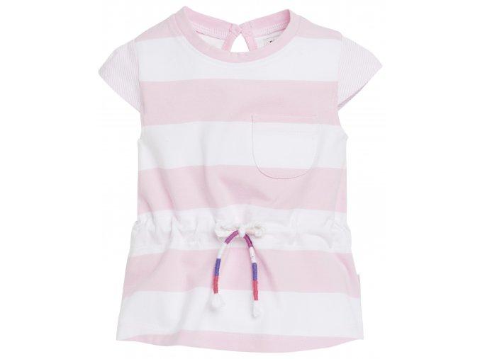 Šaty Evy Stripe - světle růžové