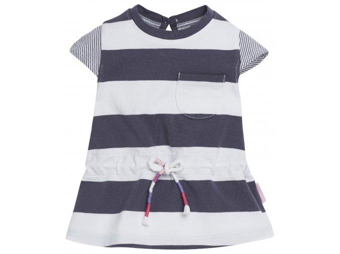 Šaty Evy Stripe - tmavě fialové