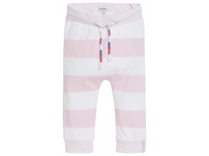 Kalhoty comf Evy stripe - světle růžové