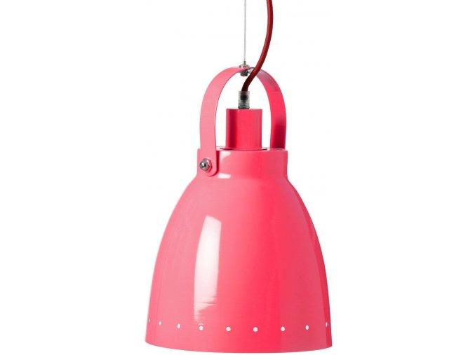 Kovová lampa - malinová