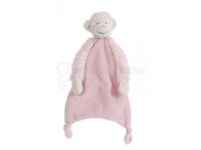 Růžová opička Mickey - přítulka