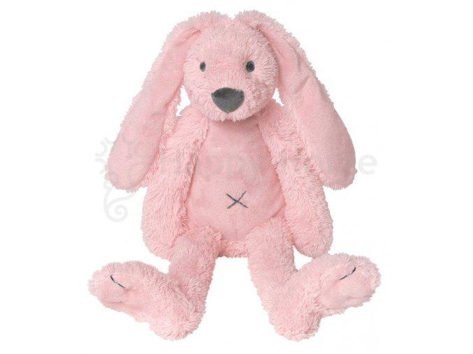 Růžový králíček Richie 38cm