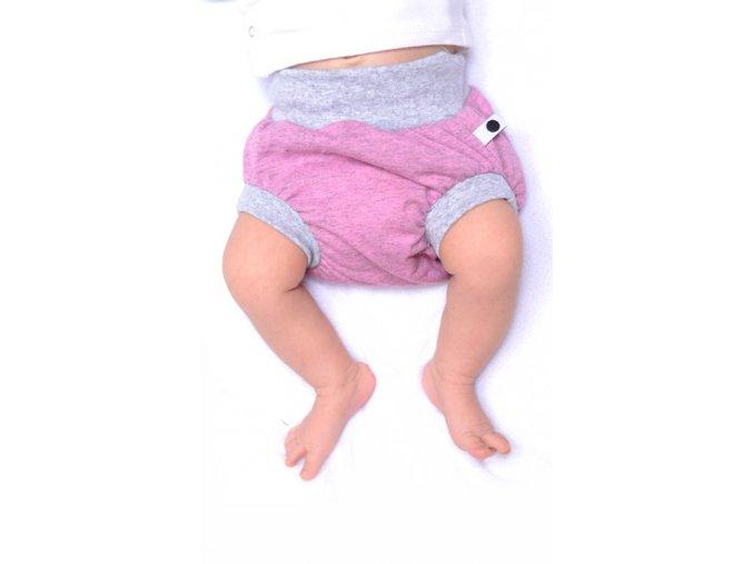Bavlněné šortky - pastelová melírovaná