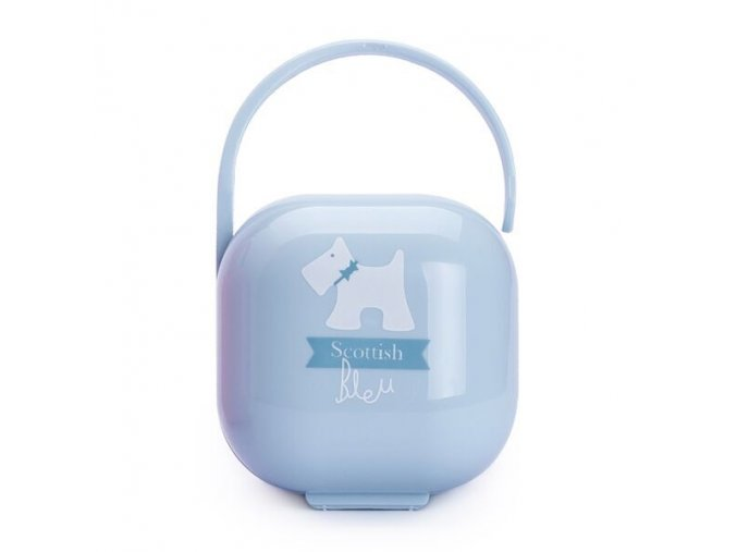 Scottish Krabička na šidítko - modrá