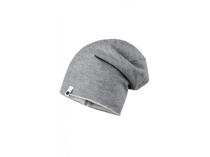 Bavlněná čepice - šedá melírovaná