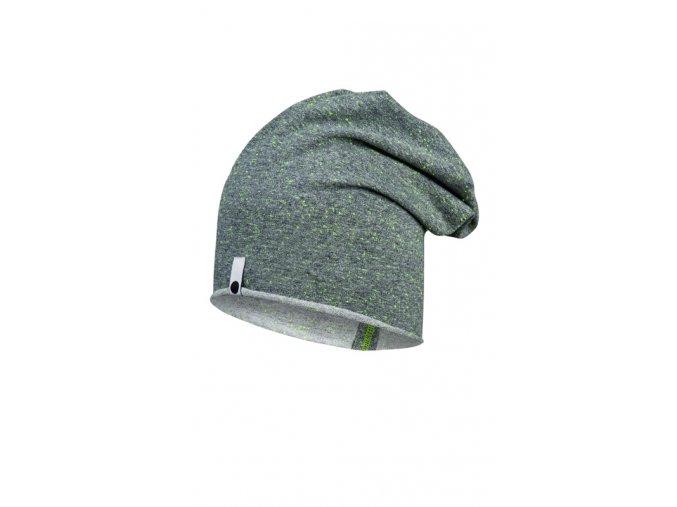 Bavlněná čepice - šedá neonová