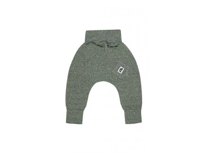 Kalhoty bavlněné (podzim/zima) - šedé neonové