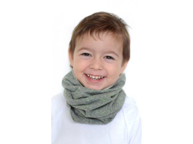 Komínkový šál - šedá neonová