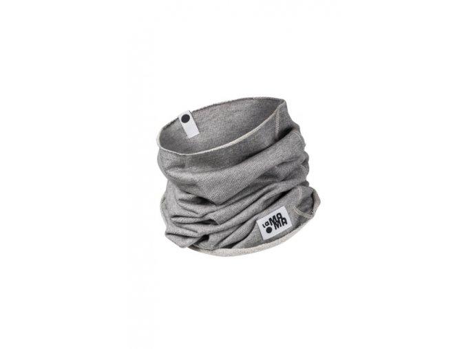 Komínkový šál - šedý melírovaný
