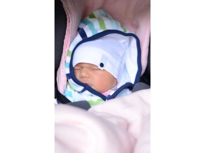 Bavlněná čepice Newborn - bílá