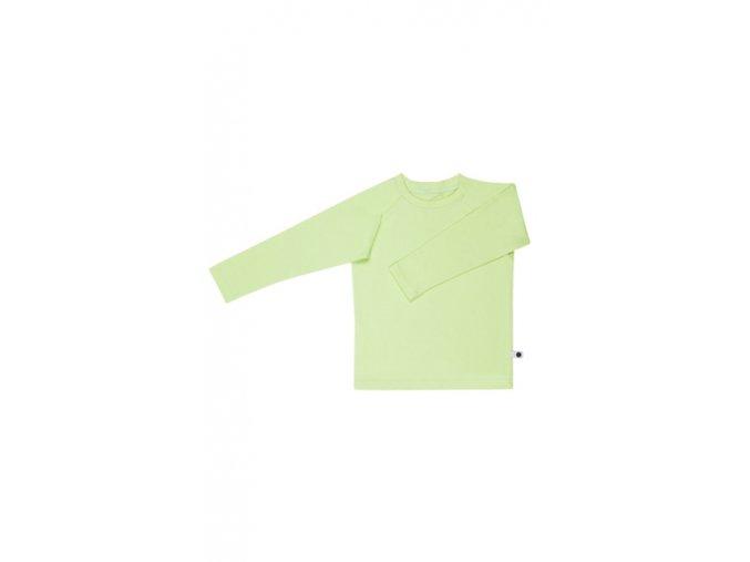 Bavlněné triko s dlouhým rukávem - jablkové