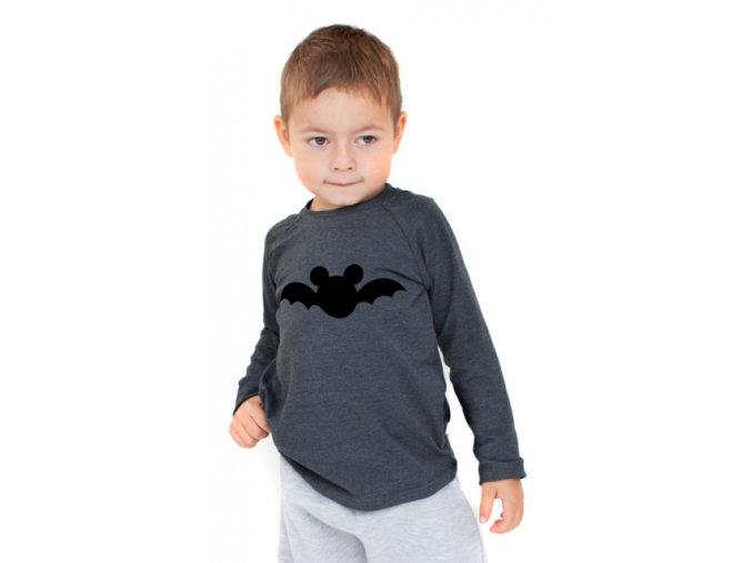 Bavlněné triko s dlouhým rukávem - batman černý LIMITOVANÉ