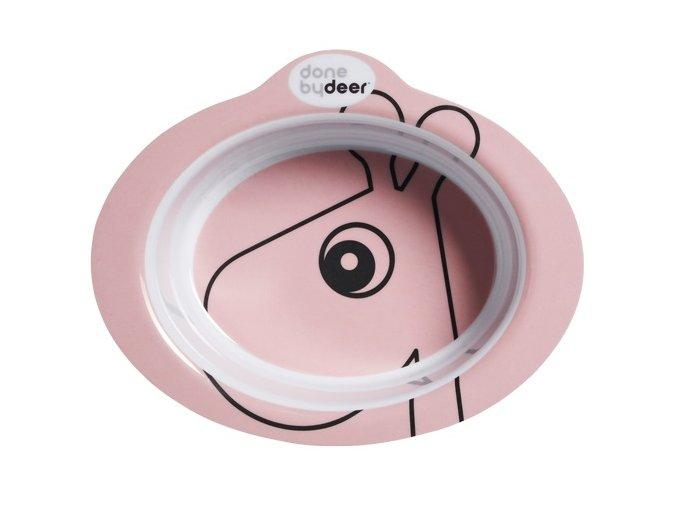 Protiskluzová miska s úchyty Contour - růžová