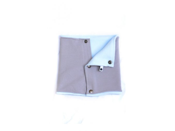 Zimní komínkový šál - blankytný/popelavý