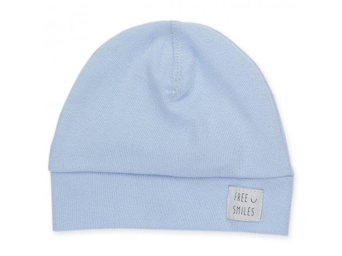 Bavlněná čepice Happy Kids - modrá